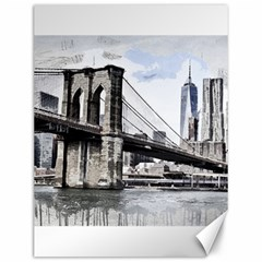 City Skyline Skyline City Cityscape Canvas 12  X 16