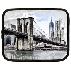 City Skyline Skyline City Cityscape Netbook Case (xl)