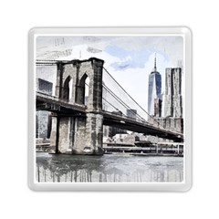 City Skyline Skyline City Cityscape Memory Card Reader (square)