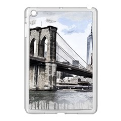 City Skyline Skyline City Cityscape Apple Ipad Mini Case (white)