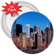 Skyscraper Architecture City 3  Buttons (10 Pack)