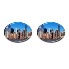 Skyscraper Architecture City Cufflinks (oval)