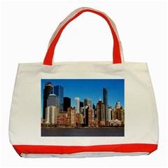 Skyscraper Architecture City Classic Tote Bag (red)