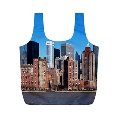Skyscraper Architecture City Full Print Recycle Bags (m)