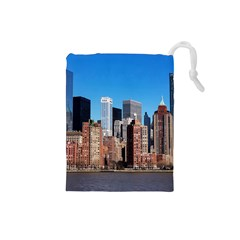 Skyscraper Architecture City Drawstring Pouches (small)