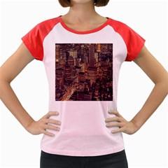 New York City Skyline Nyc Women s Cap Sleeve T Shirt