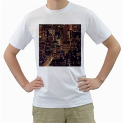 New York City Skyline Nyc Men s T Shirt (white) (two Sided)