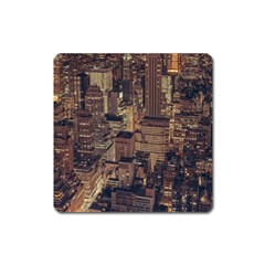 New York City Skyline Nyc Square Magnet by Simbadda
