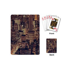 New York City Skyline Nyc Playing Cards (mini)  by Simbadda