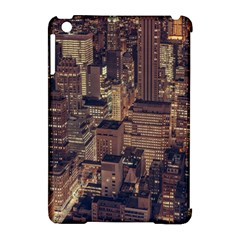 New York City Skyline Nyc Apple Ipad Mini Hardshell Case (compatible With Smart Cover) by Simbadda
