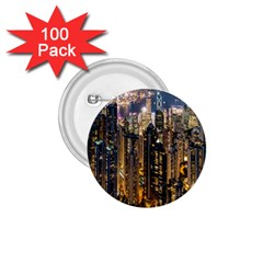 Panorama Urban Landscape Town Center 1 75  Buttons (100 Pack)