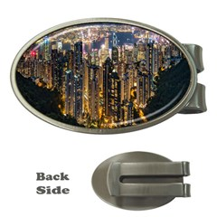 Panorama Urban Landscape Town Center Money Clips (oval)
