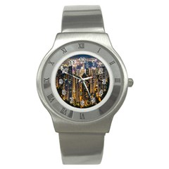 Panorama Urban Landscape Town Center Stainless Steel Watch