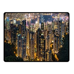 Panorama Urban Landscape Town Center Fleece Blanket (small)