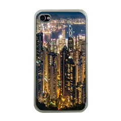 Panorama Urban Landscape Town Center Apple Iphone 4 Case (clear)