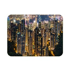 Panorama Urban Landscape Town Center Double Sided Flano Blanket (mini)