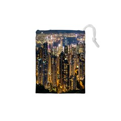 Panorama Urban Landscape Town Center Drawstring Pouches (xs)