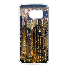 Panorama Urban Landscape Town Center Samsung Galaxy S7 White Seamless Case