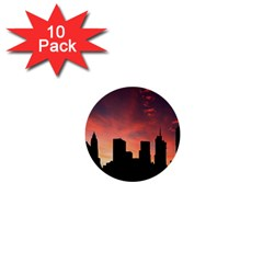 Skyline Panoramic City Architecture 1  Mini Buttons (10 Pack)