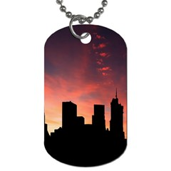 Skyline Panoramic City Architecture Dog Tag (one Side)