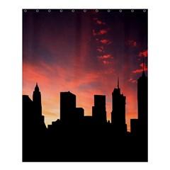 Skyline Panoramic City Architecture Shower Curtain 60  X 72  (medium)