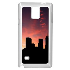 Skyline Panoramic City Architecture Samsung Galaxy Note 4 Case (white)