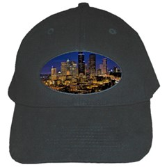 Skyline Downtown Seattle Cityscape Black Cap