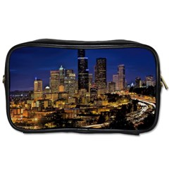 Skyline Downtown Seattle Cityscape Toiletries Bags 2 Side