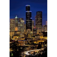 Skyline Downtown Seattle Cityscape 5 5  X 8 5  Notebooks