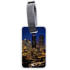 Skyline Downtown Seattle Cityscape Luggage Tags (one Side)