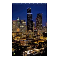 Skyline Downtown Seattle Cityscape Shower Curtain 48  X 72  (small)  by Simbadda