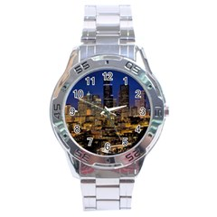 Skyline Downtown Seattle Cityscape Stainless Steel Analogue Watch by Simbadda