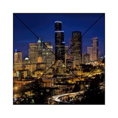 Skyline Downtown Seattle Cityscape Acrylic Tangram Puzzle (6  X 6 ) by Simbadda