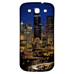 Skyline Downtown Seattle Cityscape Samsung Galaxy S3 S Iii Classic Hardshell Back Case