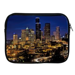 Skyline Downtown Seattle Cityscape Apple Ipad 2/3/4 Zipper Cases