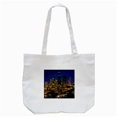 Skyline Downtown Seattle Cityscape Tote Bag (white)