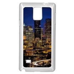 Skyline Downtown Seattle Cityscape Samsung Galaxy Note 4 Case (white)