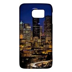 Skyline Downtown Seattle Cityscape Galaxy S6 by Simbadda