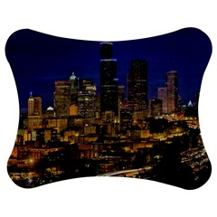 Skyline Downtown Seattle Cityscape Jigsaw Puzzle Photo Stand (bow) by Simbadda