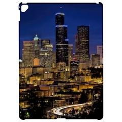Skyline Downtown Seattle Cityscape Apple Ipad Pro 12 9   Hardshell Case by Simbadda