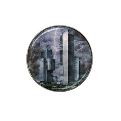 Digital Art City Cities Urban Hat Clip Ball Marker (10 Pack)