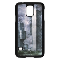 Digital Art City Cities Urban Samsung Galaxy S5 Case (black)