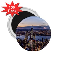 Panoramic City Water Travel 2 25  Magnets (100 Pack)