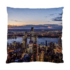 Panoramic City Water Travel Standard Cushion Case (one Side)