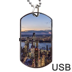 Panoramic City Water Travel Dog Tag Usb Flash (one Side)