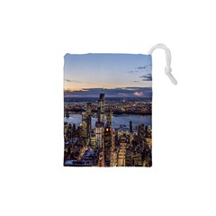 Panoramic City Water Travel Drawstring Pouches (xs)