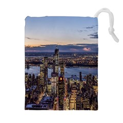 Panoramic City Water Travel Drawstring Pouches (extra Large)