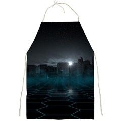 Skyline Night Star Sky Moon Sickle Full Print Aprons