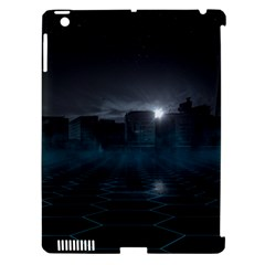 Skyline Night Star Sky Moon Sickle Apple Ipad 3/4 Hardshell Case (compatible With Smart Cover) by Simbadda