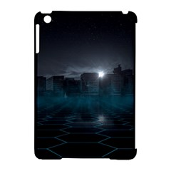 Skyline Night Star Sky Moon Sickle Apple Ipad Mini Hardshell Case (compatible With Smart Cover) by Simbadda